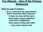 fun manual one of the primary resources2