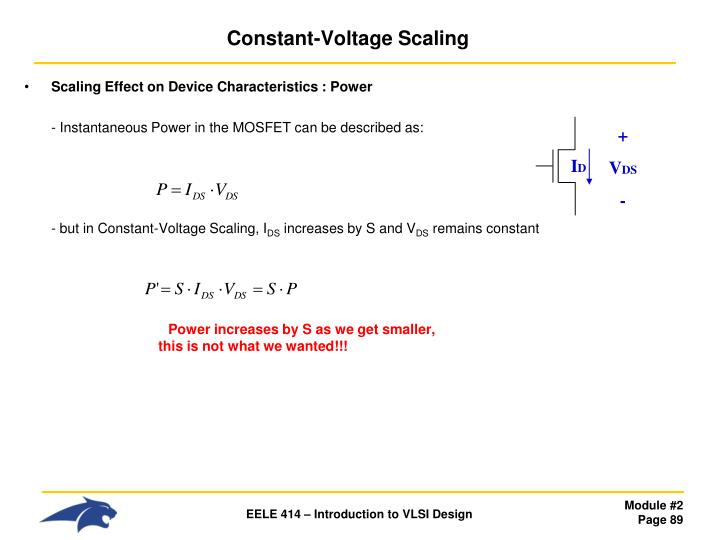 Constant-Voltage Scaling