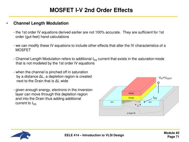 MOSFET I-V 2nd Order Effects