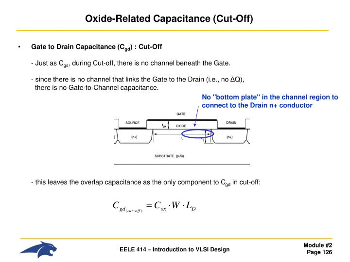Oxide-Related Capacitance (Cut-Off)