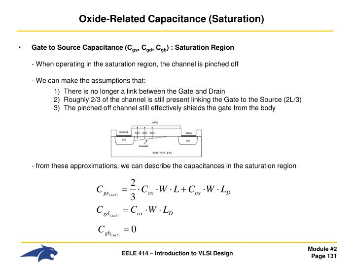 Oxide-Related Capacitance (Saturation)