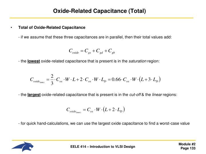 Oxide-Related Capacitance (Total)