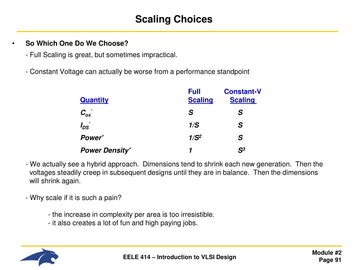 Scaling Choices