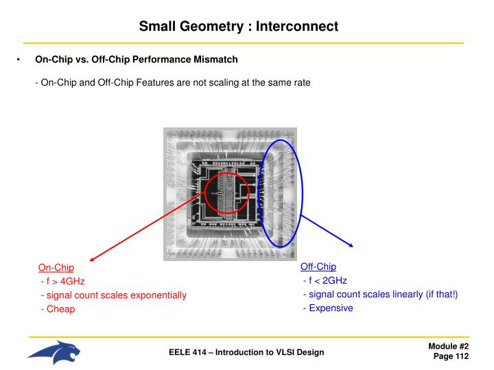 Small Geometry : Interconnect