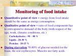 monitoring of food intake