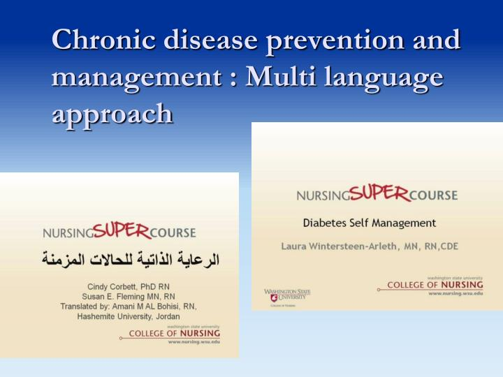 Chronic disease prevention and management : Multi language approach
