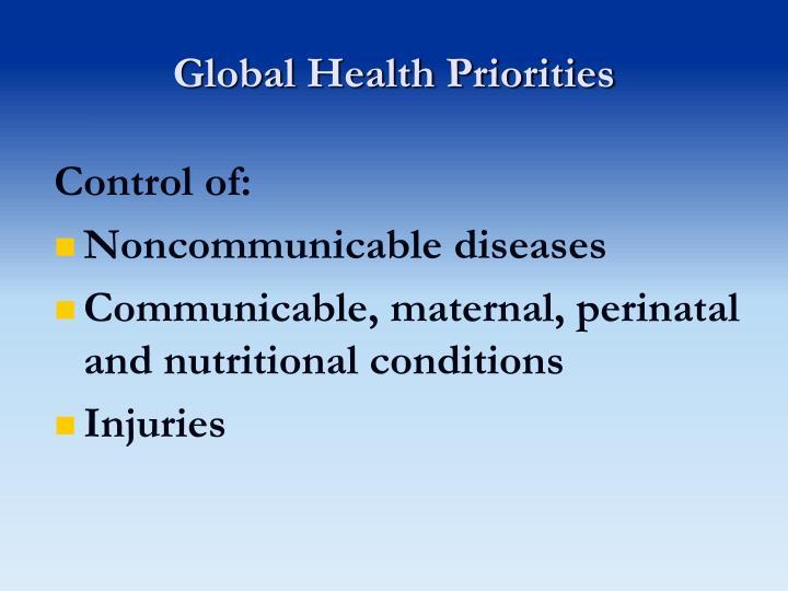 Global Health Priorities