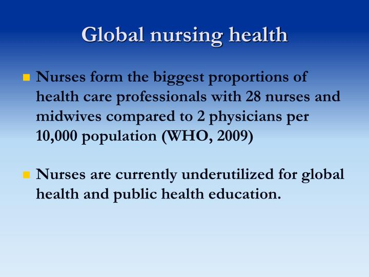 Global nursing health