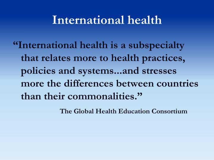 International health