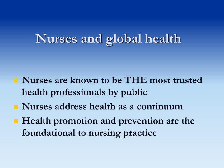 Nurses and global health