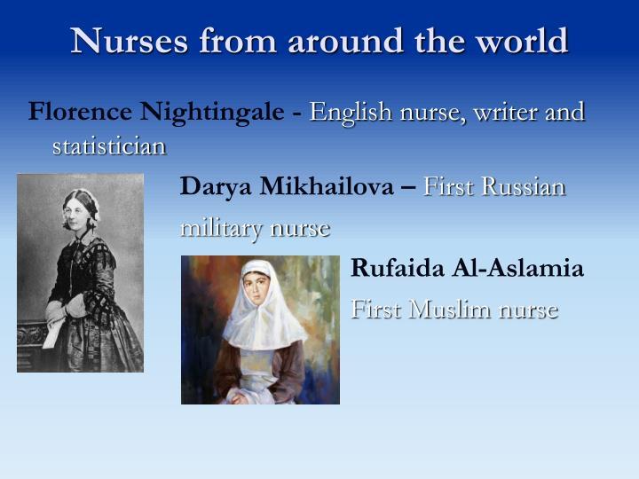 Nurses from around the world