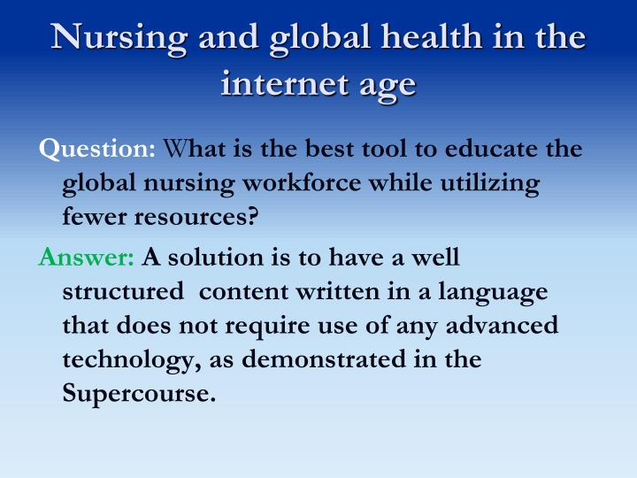 Nursing and global health in the internet age