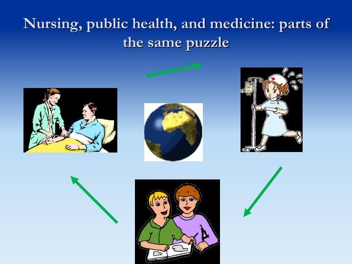 Nursing, public health, and medicine: parts of the same puzzle
