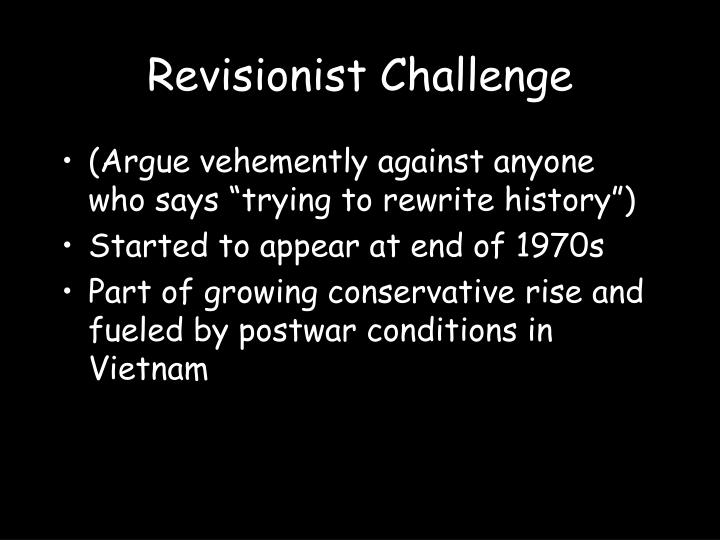 Revisionist Challenge
