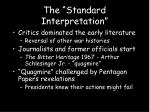 the standard interpretation