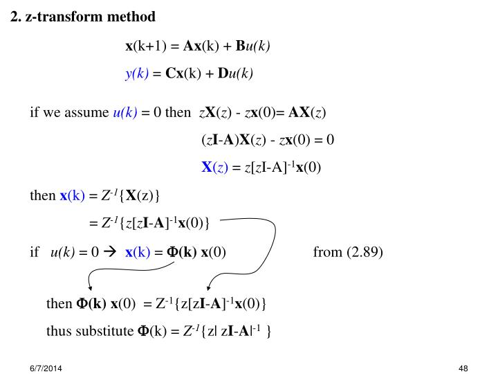 2. z-transform method