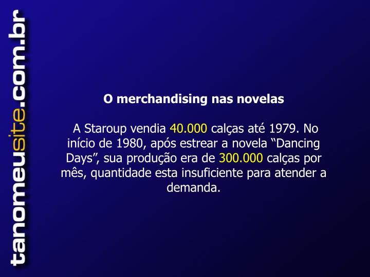O merchandising nas novelas