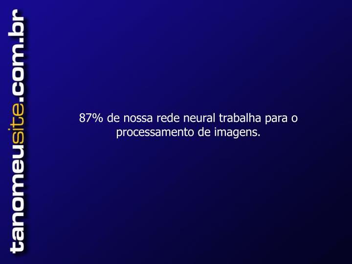87% de nossa rede neural trabalha para o processamento de imagens.