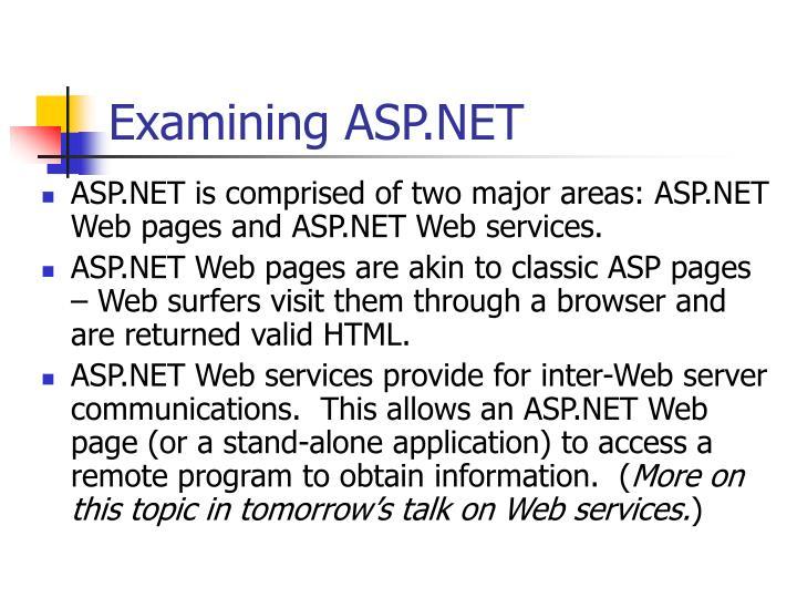 Examining ASP.NET