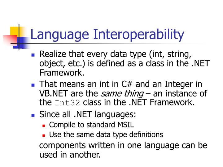 Language Interoperability