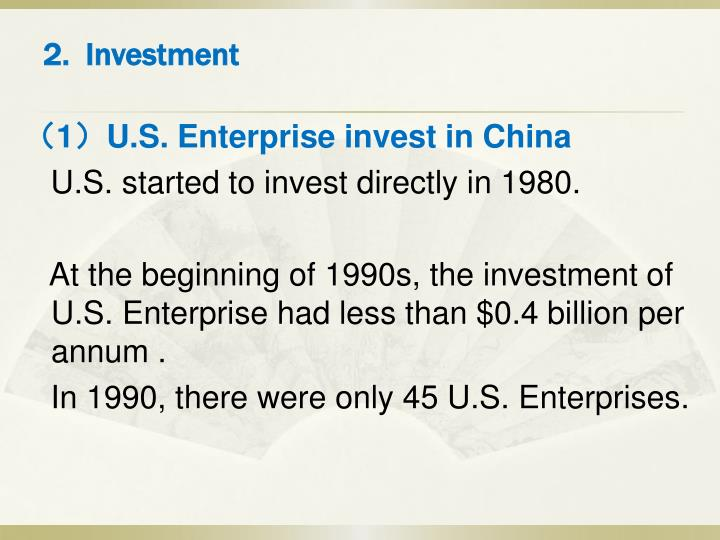 2.  Investment
