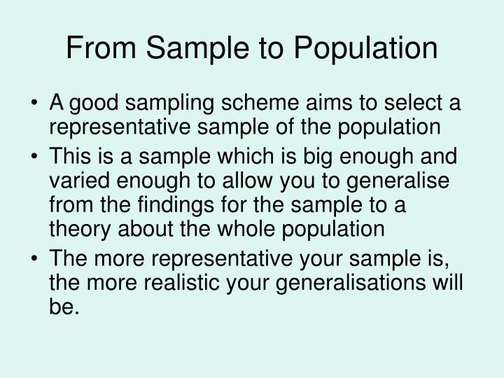 From Sample to Population