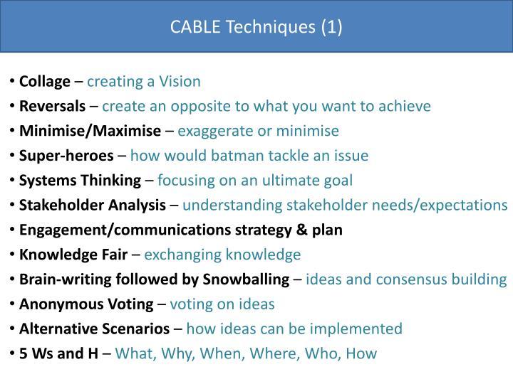 CABLE Techniques (1)