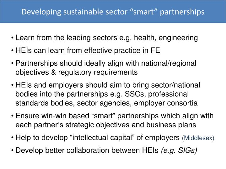Developing sustainable sector