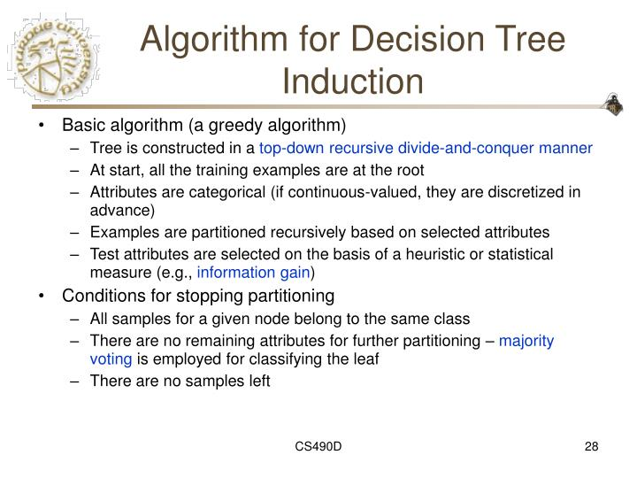 Algorithm for Decision Tree Induction