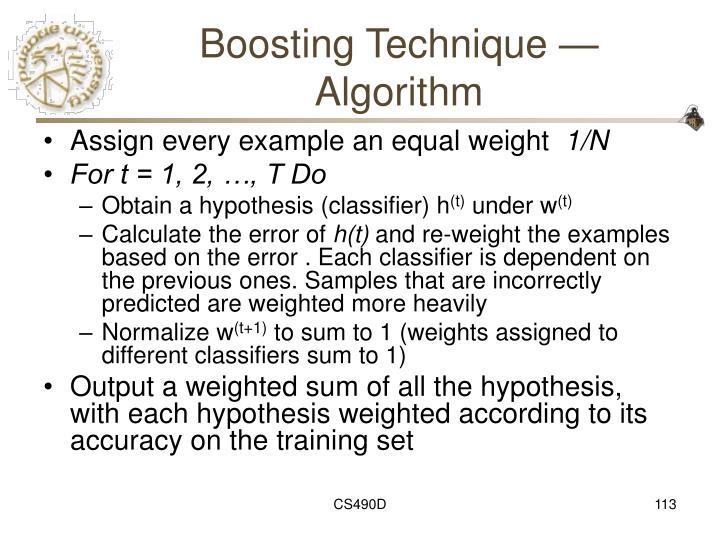 Boosting Technique — Algorithm