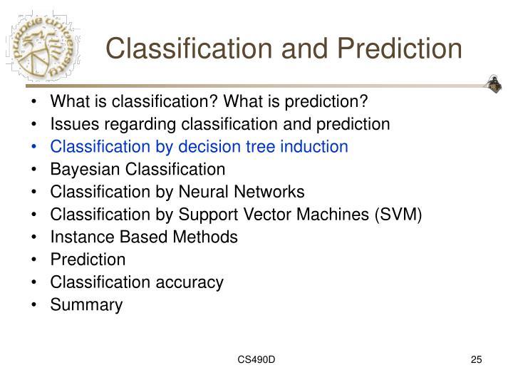 Classification and Prediction