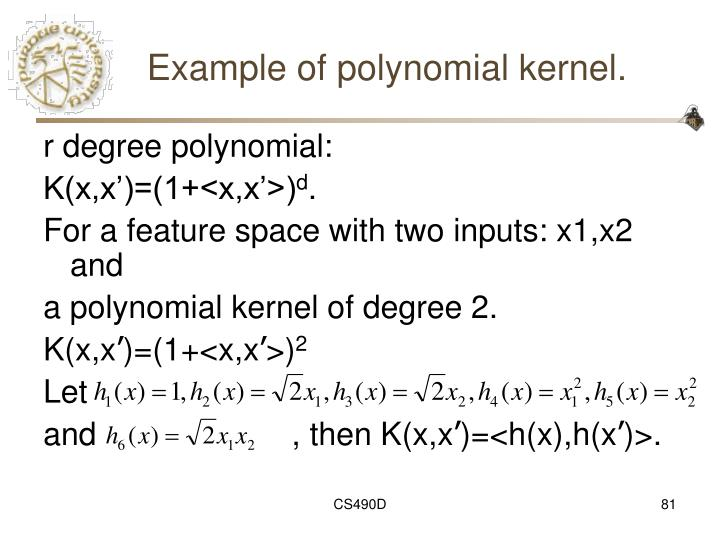 Example of polynomial kernel.