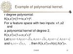 example of polynomial kernel