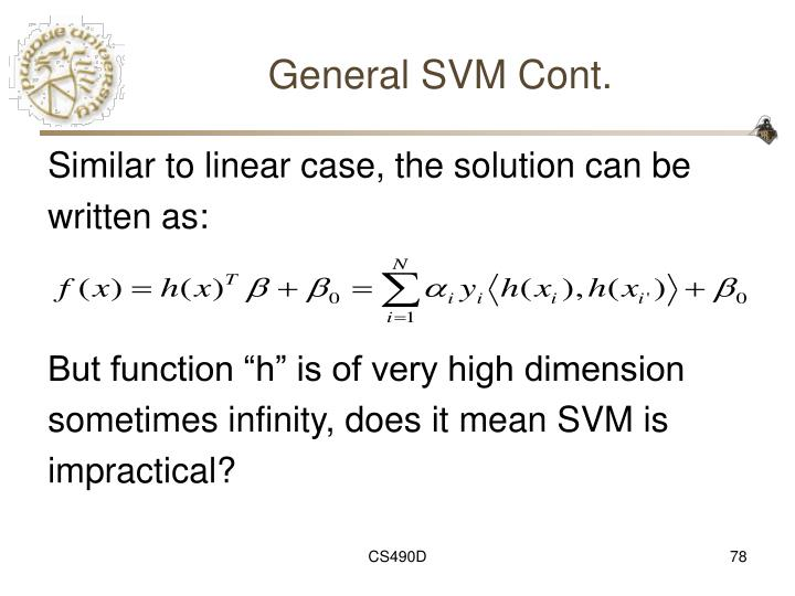 General SVM Cont.