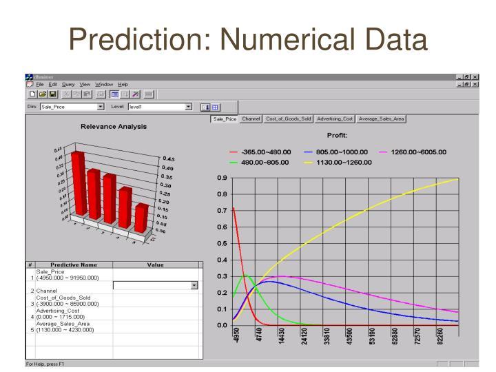Prediction: Numerical Data