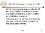 restrictions and typical kernels