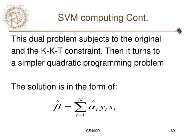 SVM computing Cont.