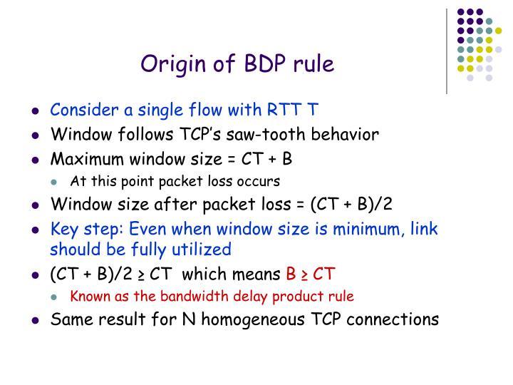 Origin of BDP rule