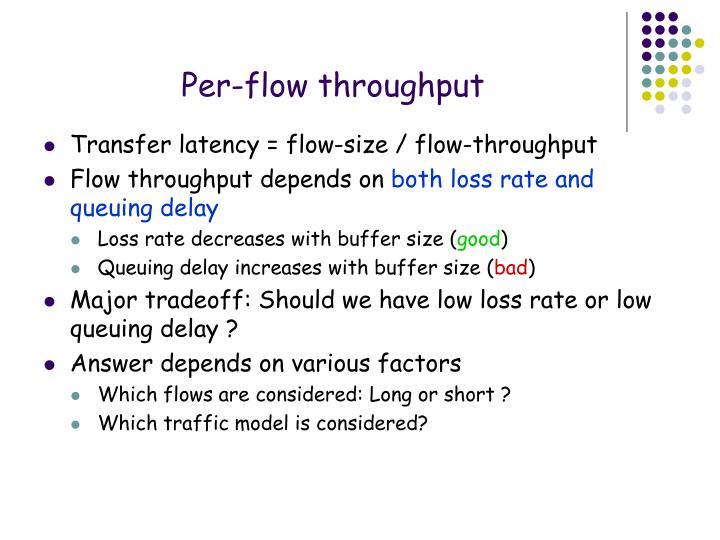 Per-flow throughput