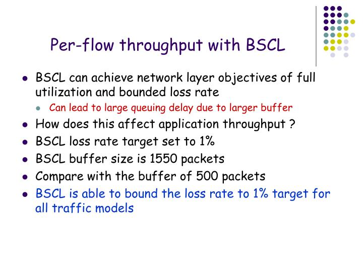 Per-flow throughput with BSCL