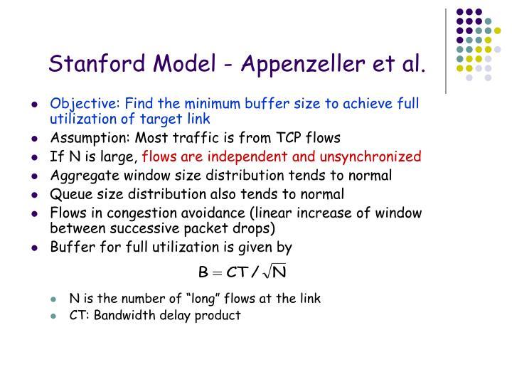 Stanford Model - Appenzeller et al.