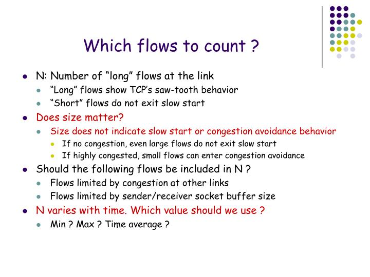 Which flows to count ?