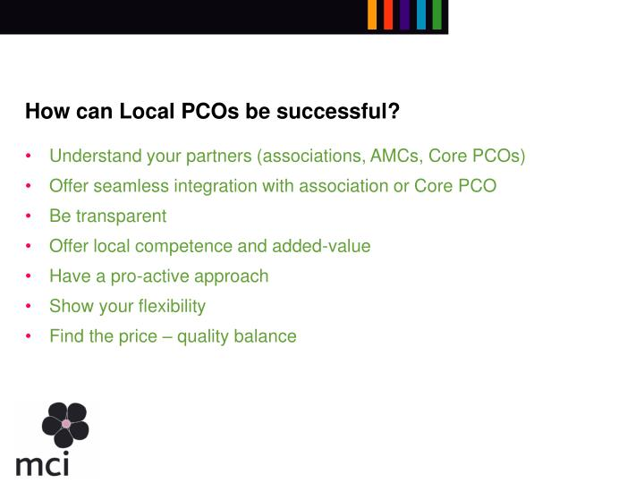 How can Local PCOs be successful?