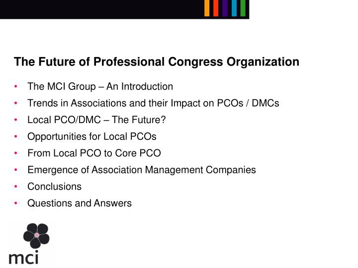 The future of professional congress organization1
