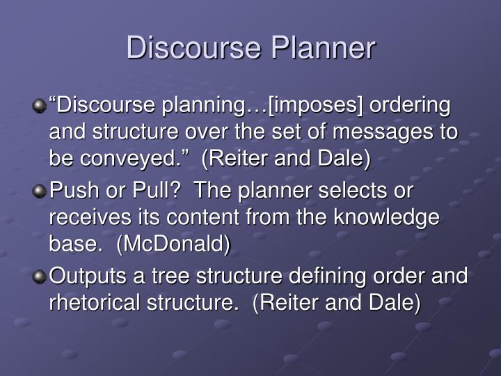 Discourse Planner