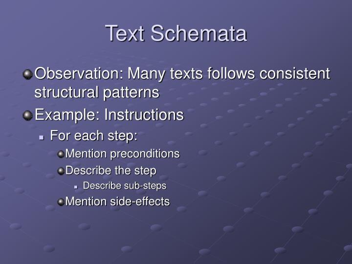 Text Schemata