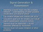signal generation transmission