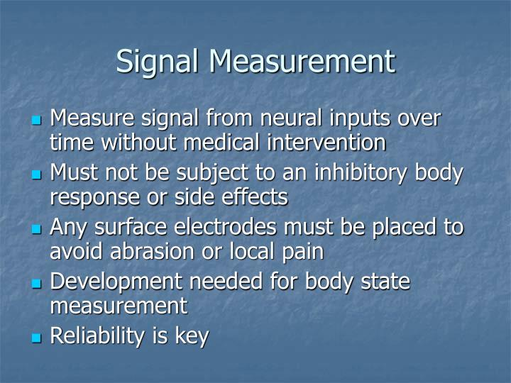 Signal Measurement