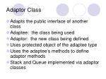 adaptor class