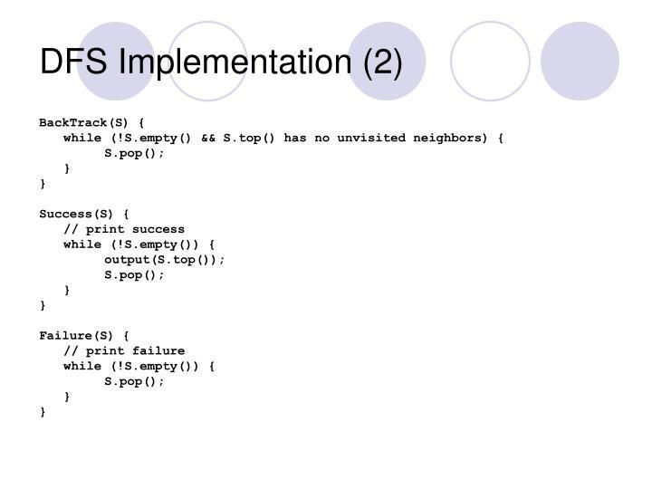 DFS Implementation (2)